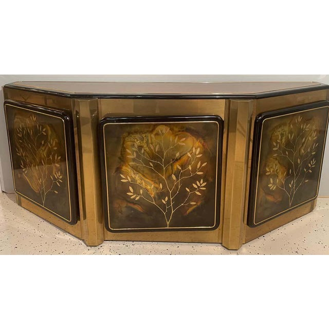 Mid-Century Modern Mastercraft Tree of Life Console or Sideboard For Sale - Image 10 of 13