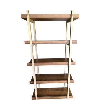 Mid-Century Modern CB2 Stax Walnut Bookcase For Sale