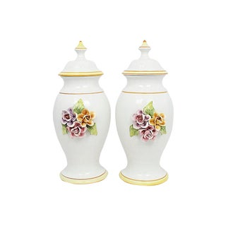 Italian Porcelain Ginger Jars, Pr For Sale
