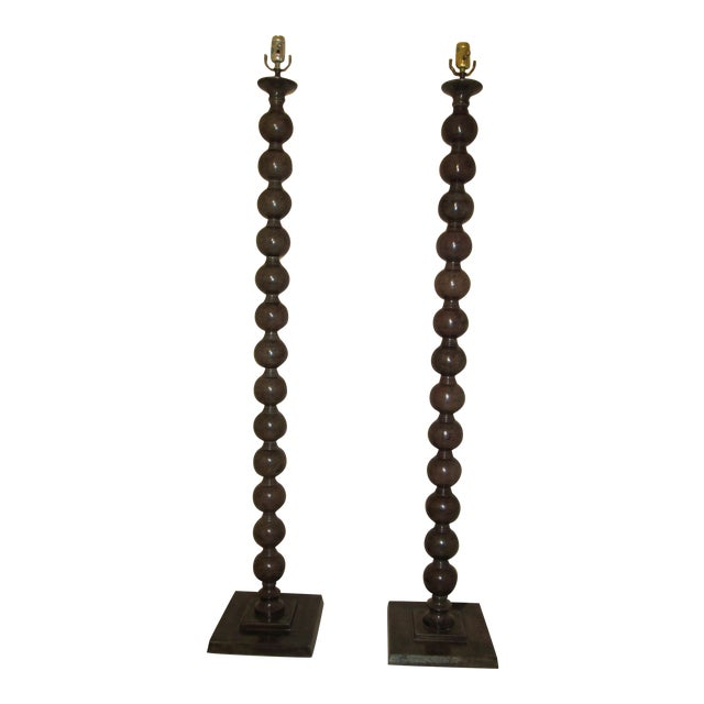Jamie Young Luna Floor Lamps - a Pair For Sale