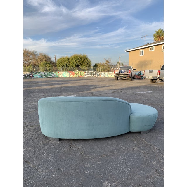 Blue 1980s Vintage Kagan Style Sofa For Sale - Image 8 of 13