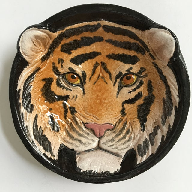Italian Mid-Century Tiger Face Pottery Bowl/Catchall For Sale - Image 12 of 12