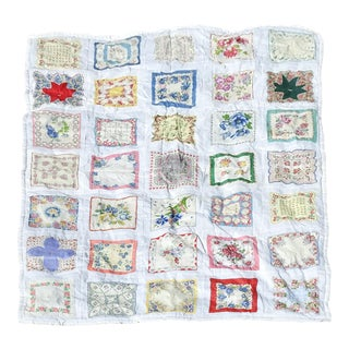 Hand Made Handkerchief Quilt For Sale