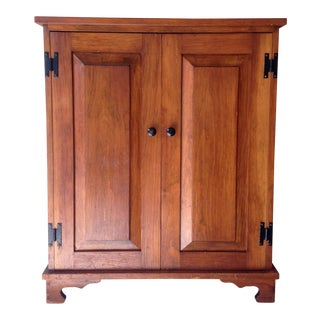 Rustic Vintage Oak Cabinet For Sale
