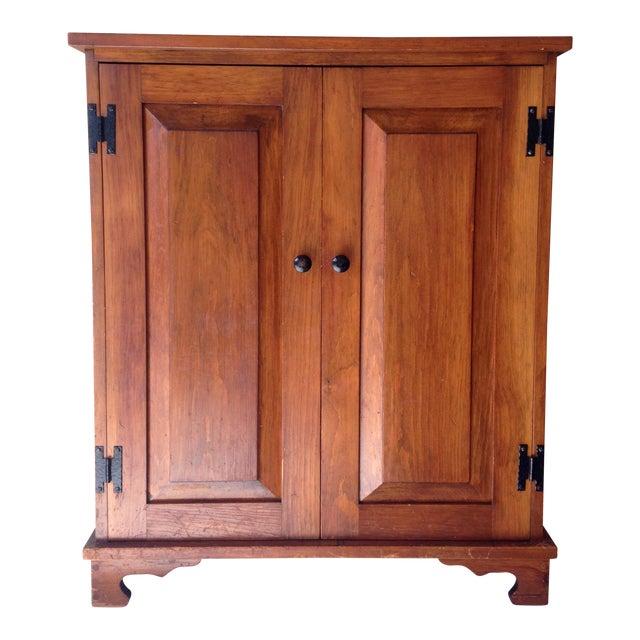 Rustic Vintage Oak Cabinet For Sale