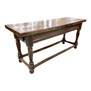 18th Century Draw Leaf Library or Console Table For Sale