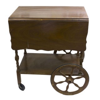 Mid-Century Wood Bar Cart