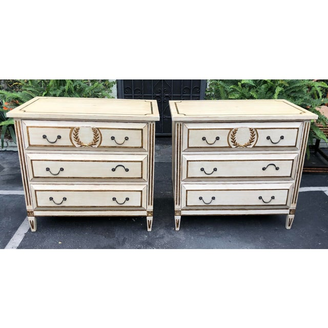 2000 - 2009 Pair of Nancy Corzine Designer Commodes or Nightstands For Sale - Image 5 of 5