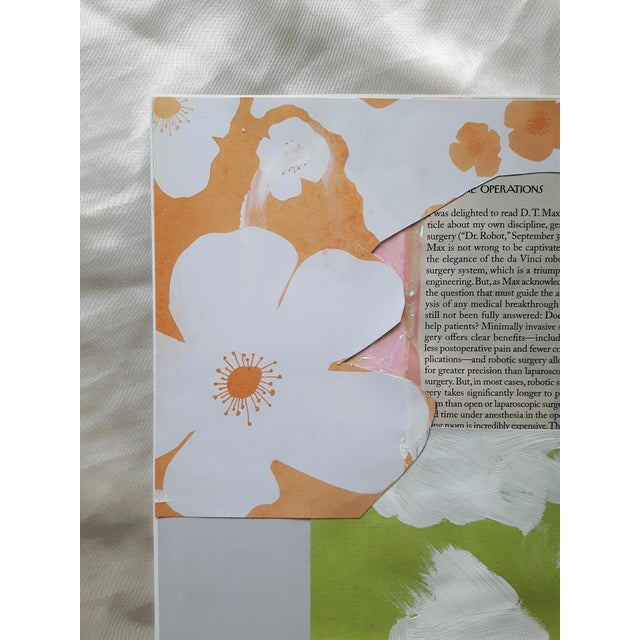 """Mess"" Abstract Floral Collage by Frances Sousa For Sale - Image 6 of 8"