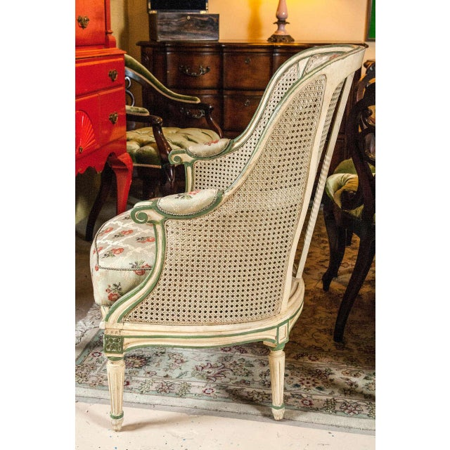 Louis XVI Style Bergere Chairs - A Pair - Image 4 of 7