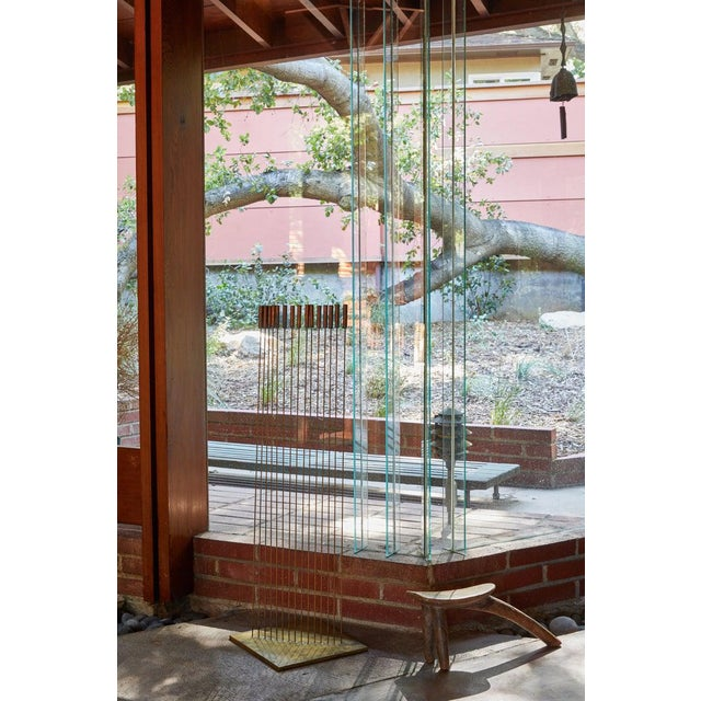 "Hollywood Regency Large Val Bertoia 15-Rod ""Curve of Sounding Cat Tails"" Sculpture, 2016 For Sale - Image 3 of 13"