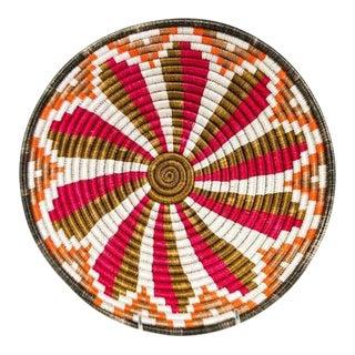 African Basket / Rwanda Baskets/ Woven Basket/ Sweet Grass and Sisal/ Boho  Wall Hanging Basket  Fruit Basket