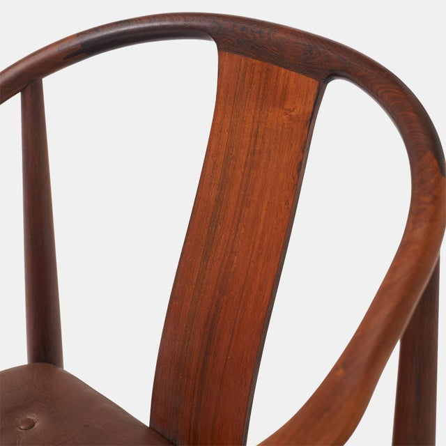 """Animal Skin Pair of Rosewood """"China"""" Chairs by Hans J Wegner For Sale - Image 7 of 10"""
