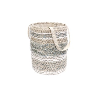 Transitional Pasargad Grandcanyon Collection Cotton Basket For Sale