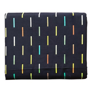 Minimalist Bauhaus Plaided Throw in Navy & Neon For Sale