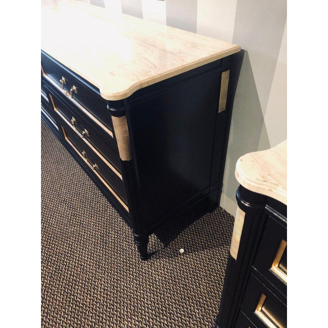 Pair of Large Maison Jansen Style Ebony Dressers Commodes or Chest of Drawers For Sale - Image 9 of 12