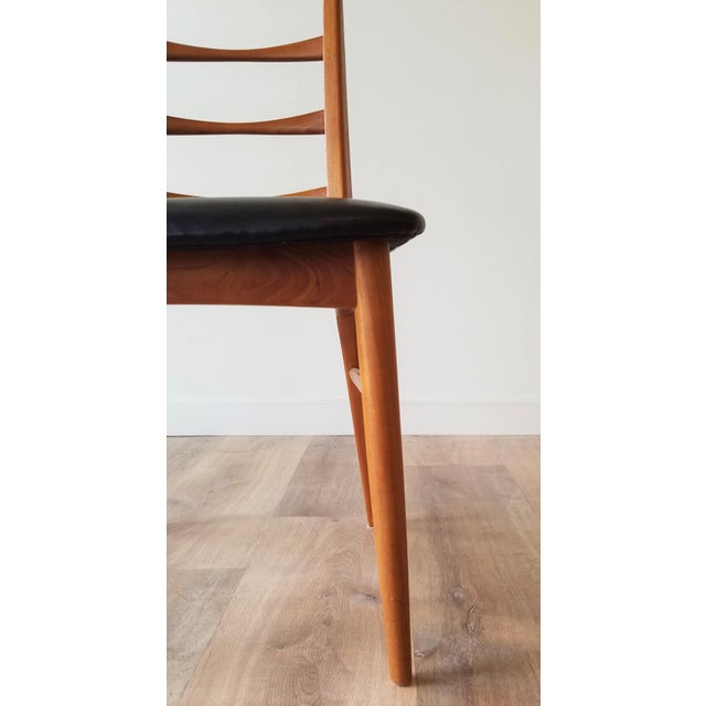 Brown 1960s Niels Kofoed for Koefoeds Hornslet Newly Upholstered Teak Ladder Back Dining Chairs - a Pair For Sale - Image 8 of 13