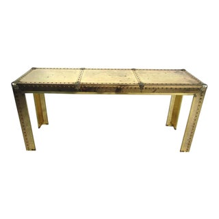 Stunning Midcentury Brass Console Table For Sale