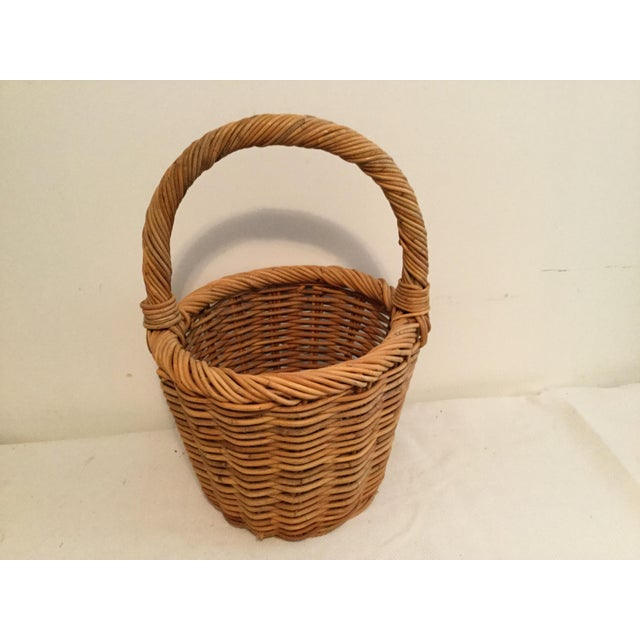 Contemporary Vintage Wishing Well Basket For Sale - Image 3 of 8