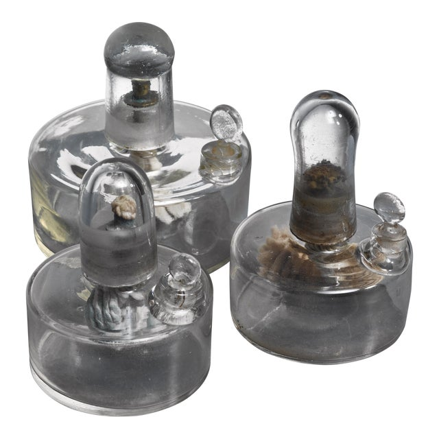 Set of Three Oil Lamps, Sweden, Circa 1900 For Sale