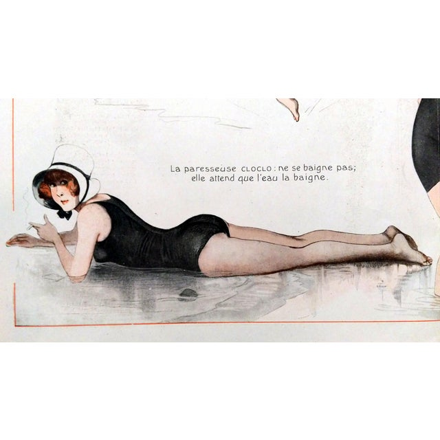 1918 La Vie Parisienne Bathing Beauty Print - Image 3 of 7