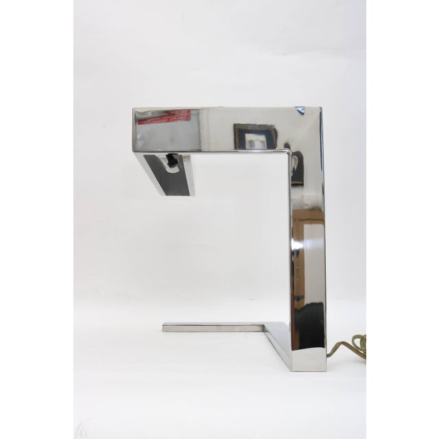 "Milo Baughman Chrome ""Flat Bar"" Desk Lamp For Sale In West Palm - Image 6 of 8"