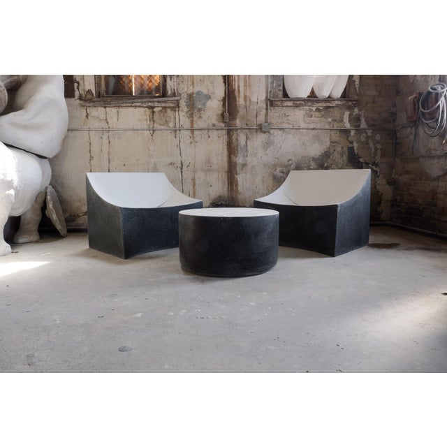 Cast Resin 'Millstone' Coffee Table, Bw Finish by Zachary A. Design For Sale In Chicago - Image 6 of 7