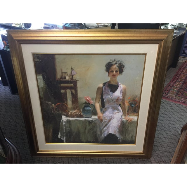 1990s Pino Daeni Lithograph Kitchen Scene Signed Limited Edition For Sale - Image 5 of 5