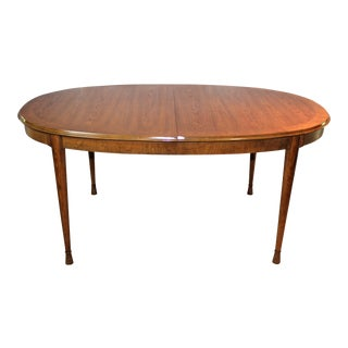 1960s Mid Century Modern Heritage Oval Dining Table For Sale