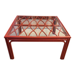 Ficks Reed Rattan Lacquered Table