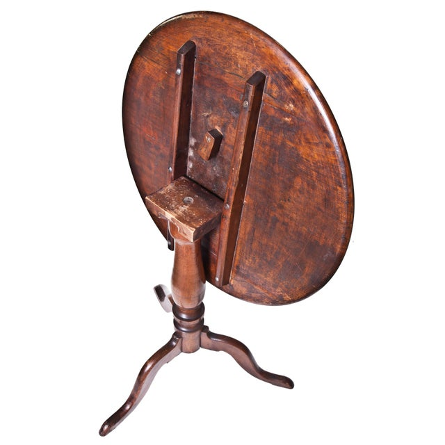 English Early 20th Century Drop Tilt Top Table For Sale - Image 3 of 6