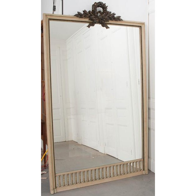 Late 19th Century French 19th Century Tall Painted Mantle Mirror For Sale - Image 5 of 10