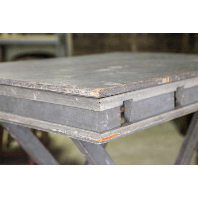 Gray Mid 19th Century French Folding Presentation Table For Sale - Image 8 of 10