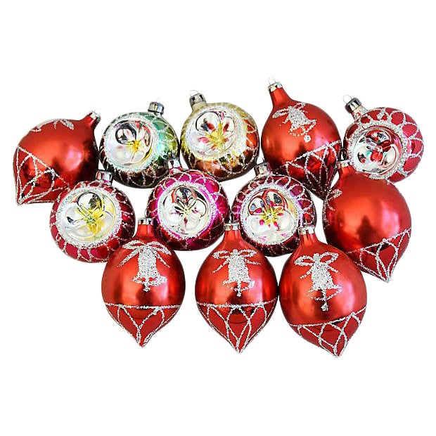 fancy christmas ornaments wboxes set of 12