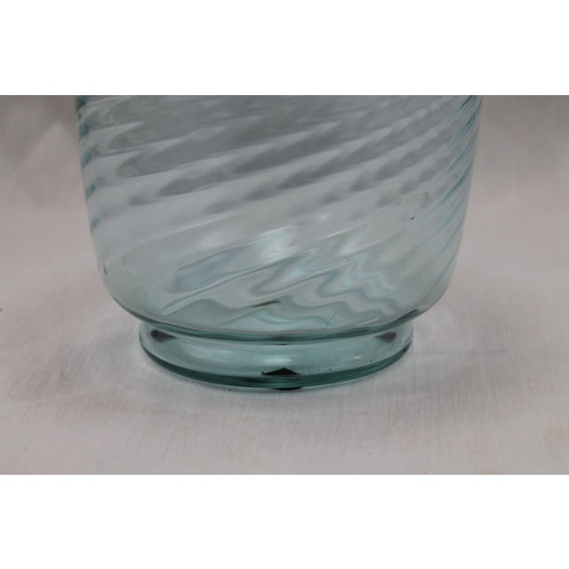 Art Deco Era Steuben Glassworks Baby Blue Translucent Swirl Bowl - Image 6 of 8