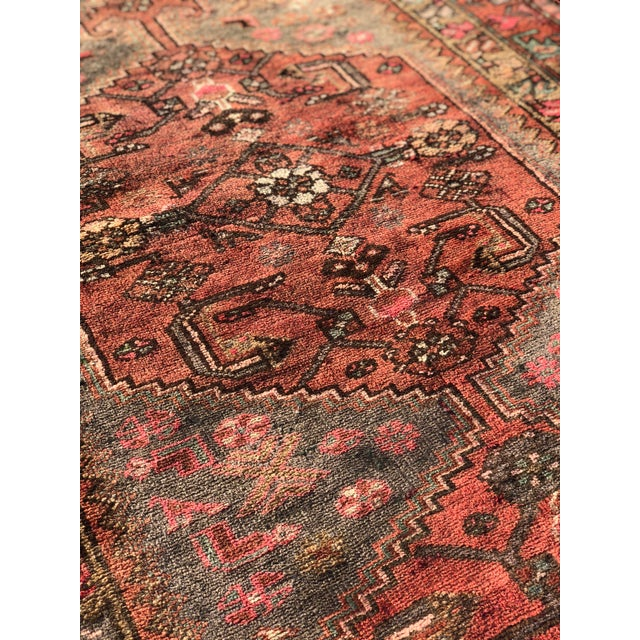 Textile 1940s Vintage Persian Hosenibad Runner Rug - 3′7″ × 10′2″ For Sale - Image 7 of 12