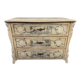 1850s Continental European Painted Chest of Drawers For Sale