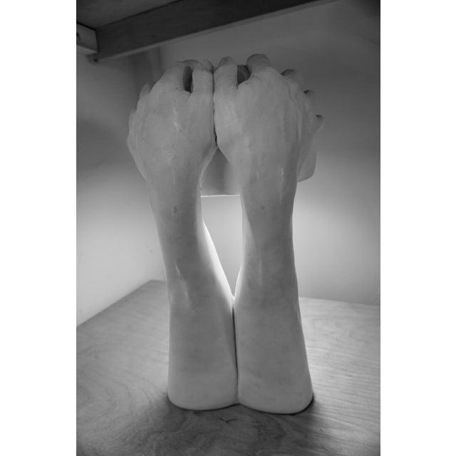 """Richard Etts Richard Etts """"Hands"""" Table Lamp For Sale - Image 4 of 7"""