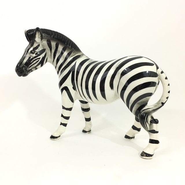 Vintage ceramic zebra figurine / sculpture. Hand painted with beautiful attention to detail. Size is perfect for...