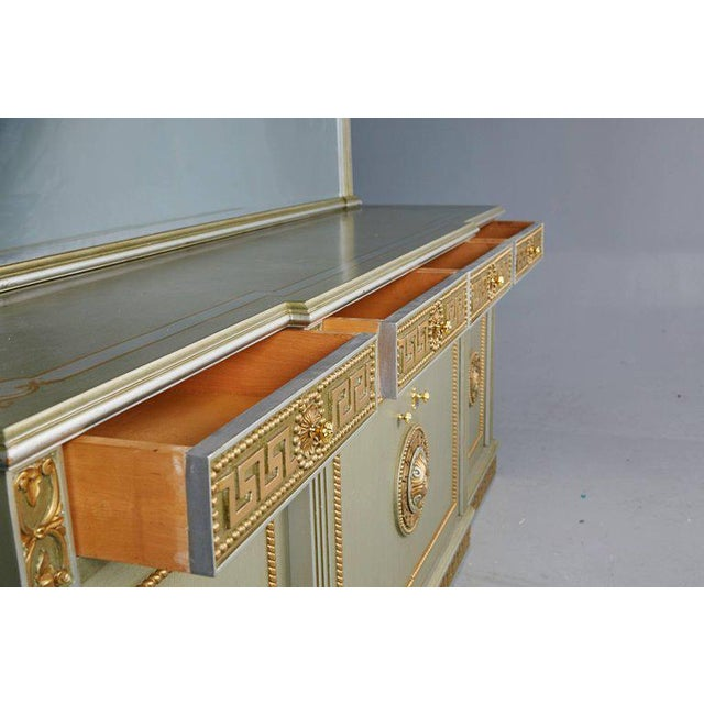 Greek Revival Versace Style Modernist Server With Mirror, Circa 1970 For Sale - Image 4 of 10