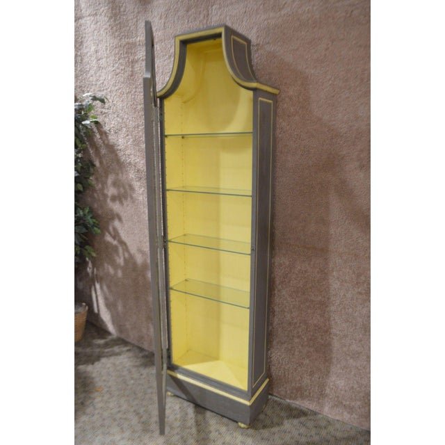 Vintage Distressed Painted Venetian Style Curio Cabinet - Image 10 of 11