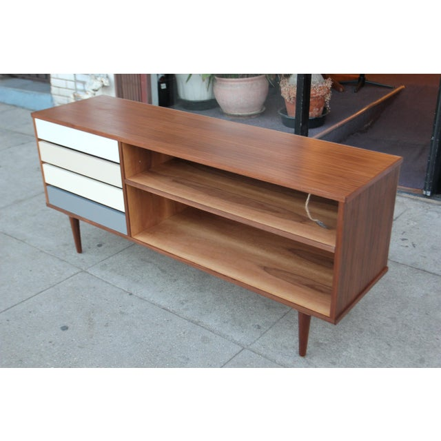 Mid-Century Style Walnut Credenza For Sale - Image 4 of 11