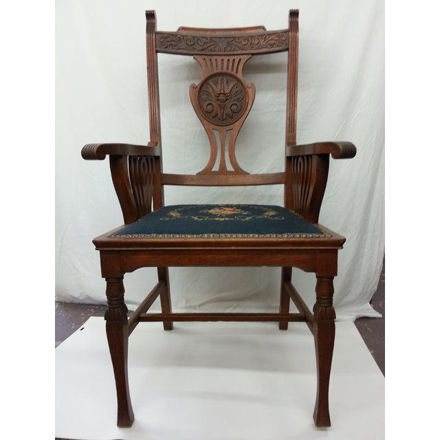 Victorian Irish Green Man Face Throne Chair - Image 9 of 9