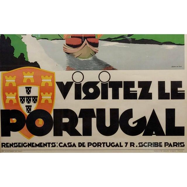 Art Deco 1937 Original Art Deco French Advertising Poster, Visitez Le Portugal For Sale - Image 3 of 7