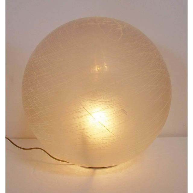 Vintage Italian floor lamp with frosted Murano glass globe and brass base / Made in Italy circa 1960's 1 light / E26 or...