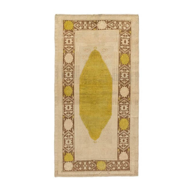 Contemporary Vintage Beige Turkish Area Rug 3'x5' For Sale - Image 3 of 5