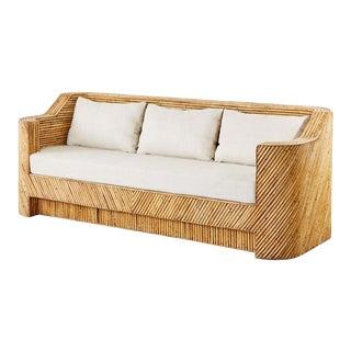 Gabriella Crespi Inspired Organic Modern Bamboo Rattan Sofa For Sale