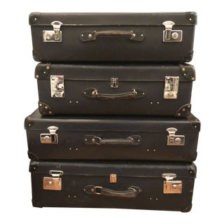 1950s English Traditional Globe-Trotter England Luggage Set - 4 Pieces For Sale