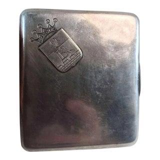 Russian Silver 84 Cigarette Case Box Dated 1899 For Sale