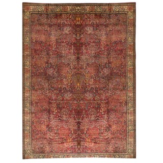 Antique Oversize 19th Century Indian Carpet For Sale